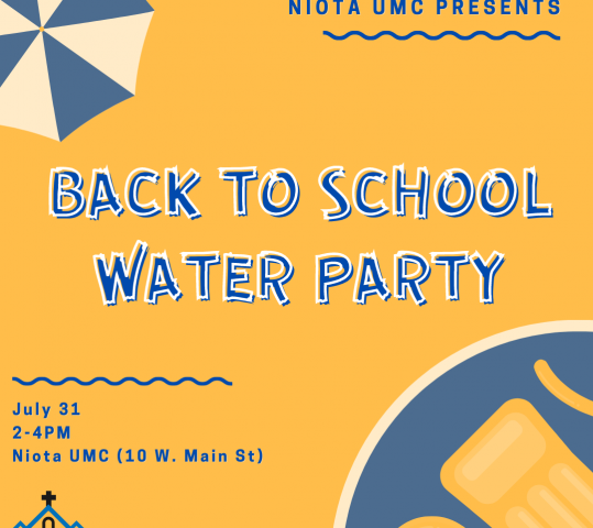 Back to School Water Party on July 31